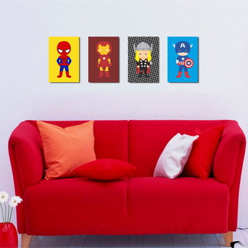 4 Quadros Vingadores Cute