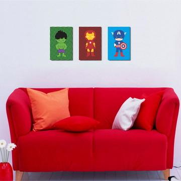 3 Quadros Vingadores Cute