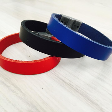 Casual Red/black/blue Lisa - Pulseira Couro Stylo Acesso