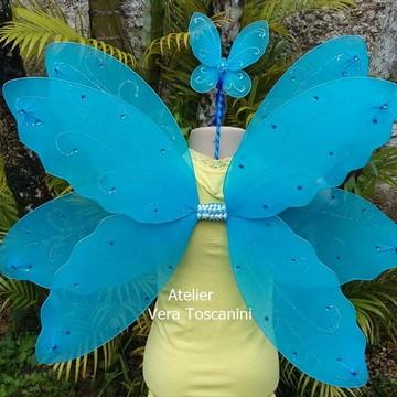 Fantasia asa de fada azul (Kit)