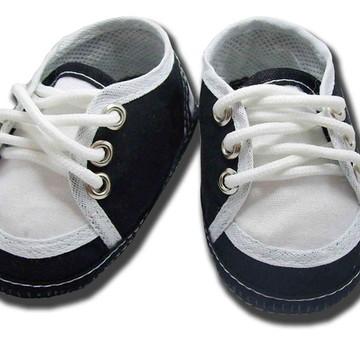 Sapatinho de bebê Tênis Preto e Branco