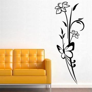 a4160f78c Adesivo de Parede Floral Modelo 15 -G 50x140cm