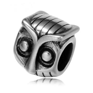 Berloque CORUJA de Aço inox 360L