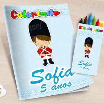 Kit colorir com giz de cera Soldadinho de Chumbo
