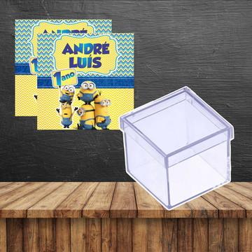 Rotulo para caixinha de acrilico Minions