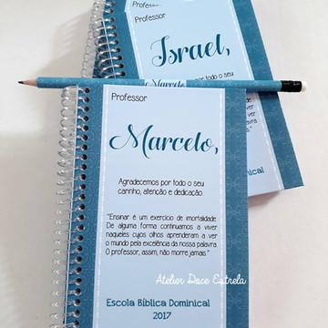 Caderno Personalizado -Dia dos Professores - Masculino