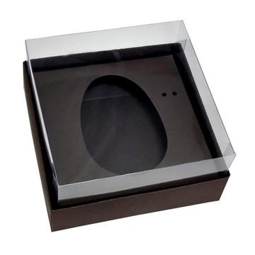 Caixa Ovo de Colher 100g/150g Marrom