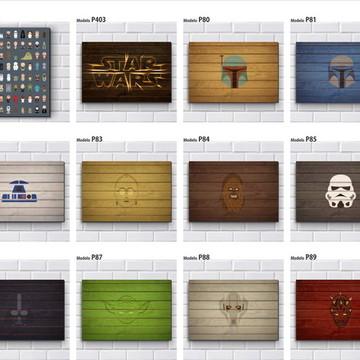 Placa MDF Adesiva - Star Wars (venda mínima 3 placas)