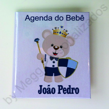 Agenda do bebê - urso realeza