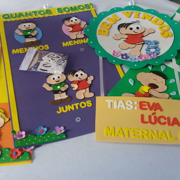 Kit Material pedagogico da Mônica