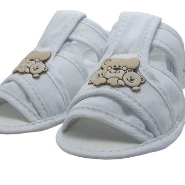Sapatinho de Bebê Sandália Branca