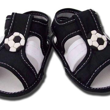Sapatinho de Bebê Sandália Branca e Preta