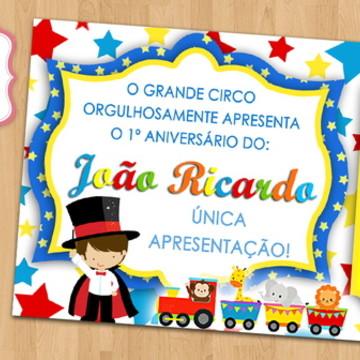 Convite Arte Digital - Circo