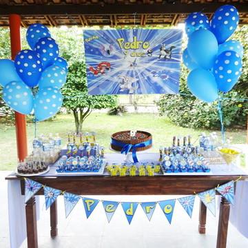 Festa Painel impresso POKEMON Party