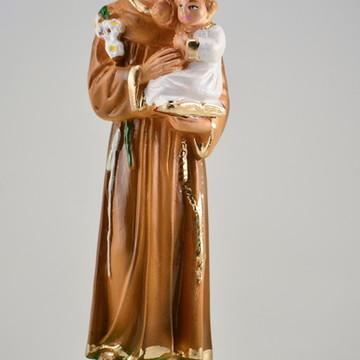 Imagem Santo Antonio Escultura 100% Em Gesso Estatua