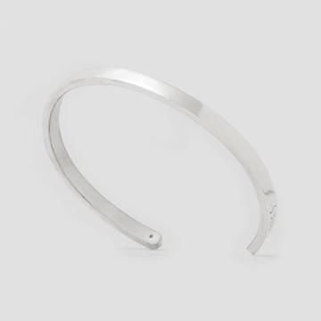 e7e850d2471 Pulseira Bracelete De Prata 950k - Slim 3mm De Largura