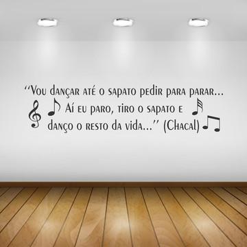 12cb60846f Adesivo - Frase  Vou Dançar Até o Sapato.