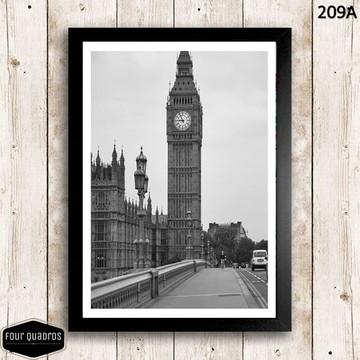 Quadro 30x42cm - LONDRES / BIG BEN - com vidro