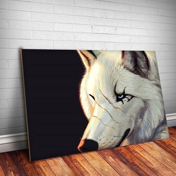 863b33b90 Placa Decorativa Animais 06 - lobo 30x20