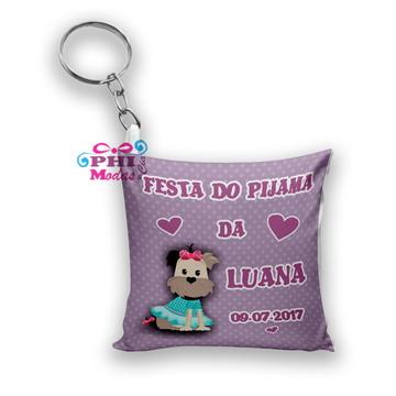 chaveiro almofada festa do pijama personalizado almochaveiro