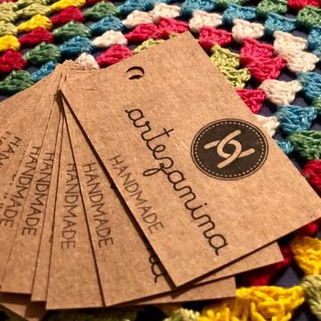 Tag cartão de visita personalizado papel kraft artesanato