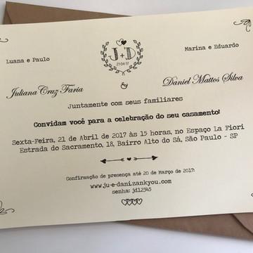 Convite Casamento no Campo - Arte Digital