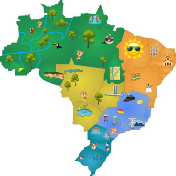 Adesivo Decorativo Mapa do Brasil