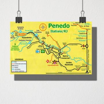 Poster A3 Mapa Penedo