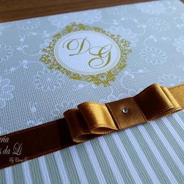 PROMOÇÃO Convite de Casamento Dourado /Bodas/