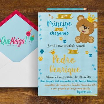 Convite Príncipe Urso