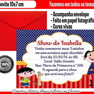 Convite Show da Luna