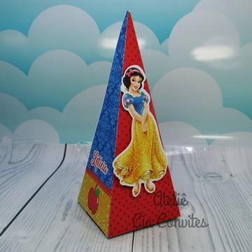 Lembrancinha Branca De Neve Caixa Pirâmide