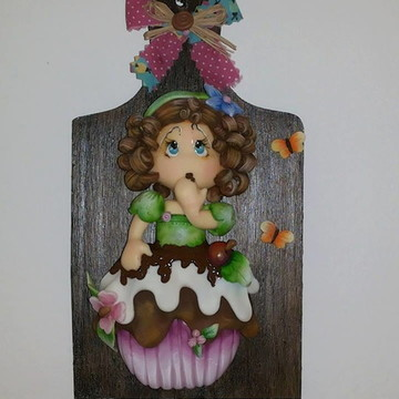 Porta chaves Menina CUP CAKE biscuit