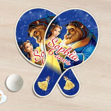 Kit Ping Pong raquete a bela e a fera