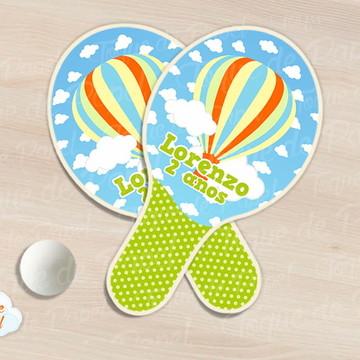 Kit Ping Pong raquete balões