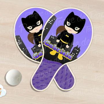 Kit Ping Pong raquete batgirl cute