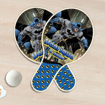 Kit Ping Pong raquete batman