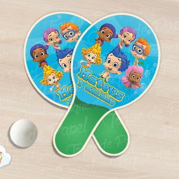 Raquete de ping pong bubble guppies