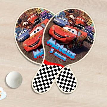 Raquete de ping pong carros