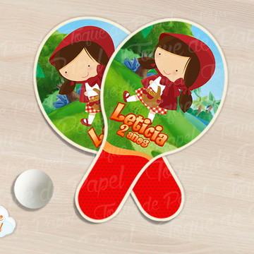 Raquete de ping pong chapeuzinho vermelho