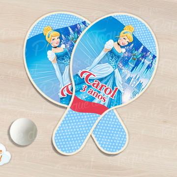 Raquete de ping pong cinderela