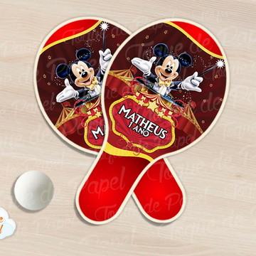 Raquete de ping pong circo do mickey