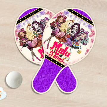 Raquete de ping pong ever after high