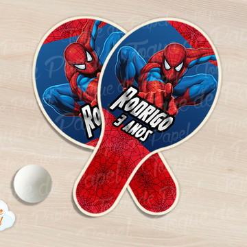 Raquete de ping pong homem aranha
