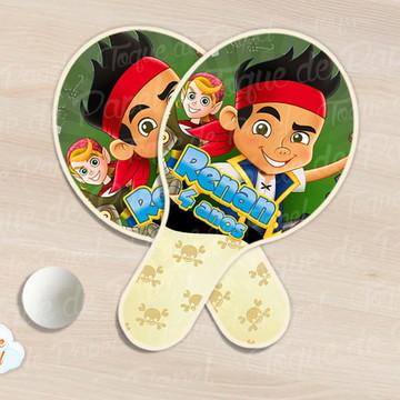 Raquete de ping pong jake e os piratas