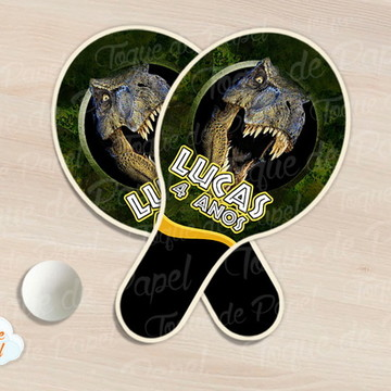 Raquete de ping pong jurassic park