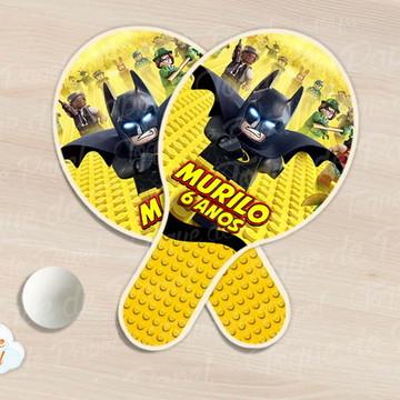 Raquete de ping pong lego batman