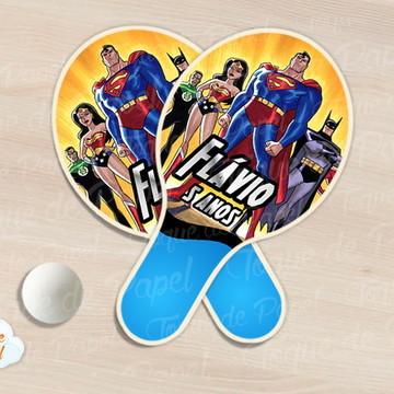 Raquete de ping pong liga da justiça