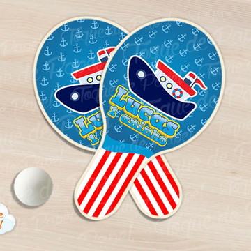 Raquete de ping pong marinheiro barquinho