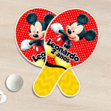 Raquete de ping pong mickey